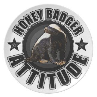 Honey Badger ATTITUDE - Round Design Party Plate