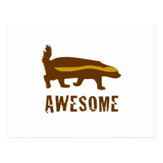 Honey Badger Awesome Postcard