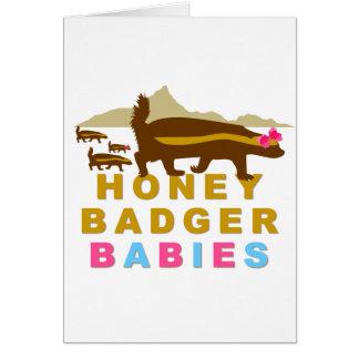 honey badger babies greeting card