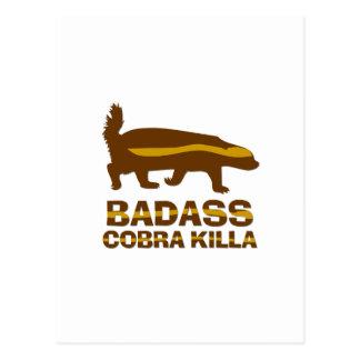Honey Badger - Badass Cobra Killa Postcard