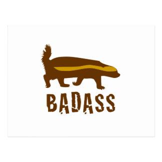 honey badger badass postcard