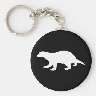 Honey Badger Basic Round Button Keychain