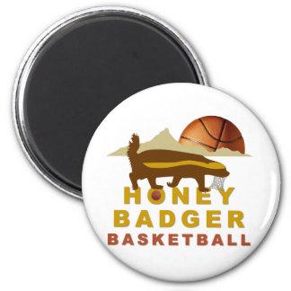Honey Badger Basketball 2 Inch Round Magnet