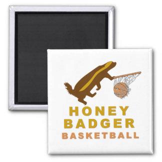 Honey Badger Basketball 2 Inch Square Magnet