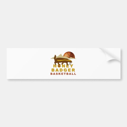 Honey Badger Basketball Bumper Sticker