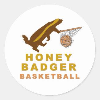 Honey Badger Basketball Classic Round Sticker
