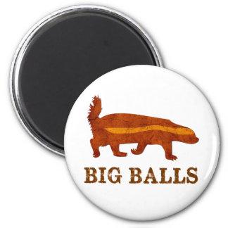 Honey Badger Big Balls 2 Inch Round Magnet