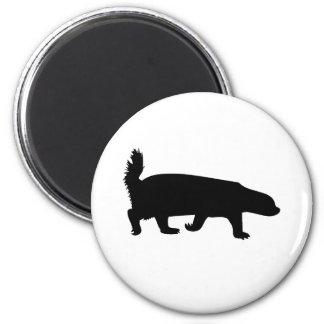 Honey Badger Black 2 Inch Round Magnet