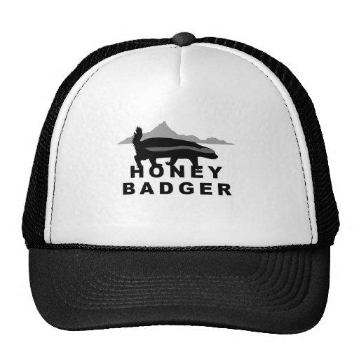 honey badger black and white trucker hat