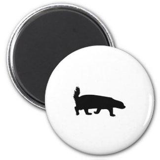 Honey Badger Black Silhouette 2 Inch Round Magnet