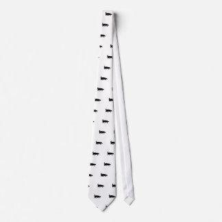 Honey Badger Black Silhouette Tie
