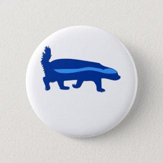honey badger blue pinback button