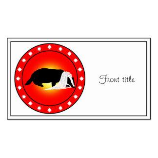 Honey Badger Bride with Veil Business Card