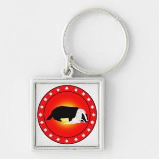 Honey Badger Bride with Veil Silver-Colored Square Keychain