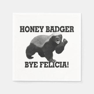 Honey Badger Bye Felicia Standard Cocktail Napkin