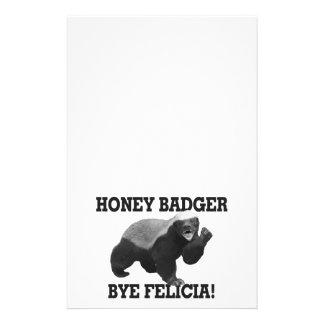 Honey Badger Bye Felicia Stationery