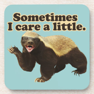 Honey Badger Cares Beverage Coasters