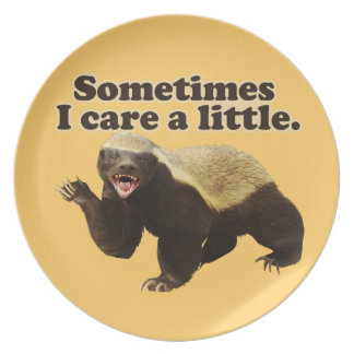 Honey Badger Cares Party Plate