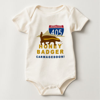 honey badger carmageddon baby bodysuit