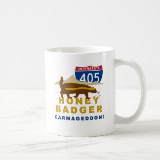 honey badger carmageddon classic white coffee mug