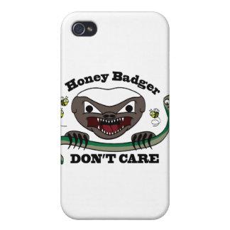 Honey Badger Cartoon Case For iPhone 4
