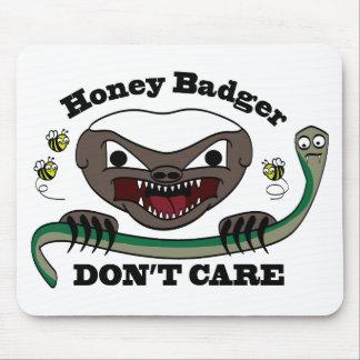 Honey Badger Cartoon Mouse Pad