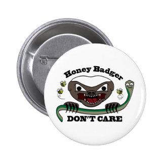 Honey Badger Cartoon Pinback Button