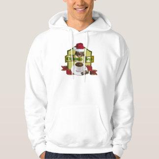 Honey Badger Christmas Blend Coffee Label Hooded Pullover