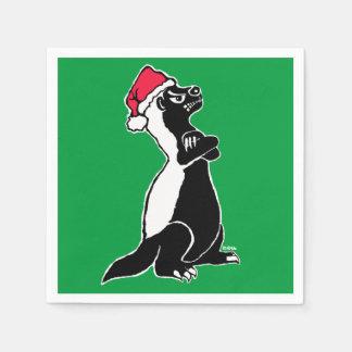 Honey badger Christmas Napkin