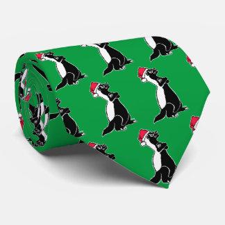 Honey badger Christmas Tie
