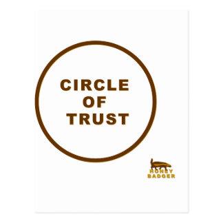 honey badger circle of trust postcard