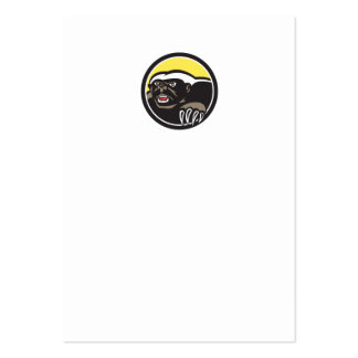 Honey Badger Claws Side Circle Retro Pack Of Chubby Business Cards