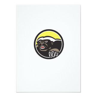 Honey Badger Claws Side Circle Retro 14 Cm X 19 Cm Invitation Card