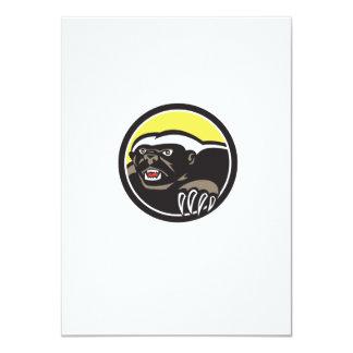 Honey Badger Claws Side Circle Retro 11 Cm X 16 Cm Invitation Card
