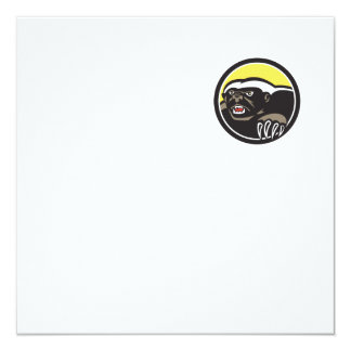 Honey Badger Claws Side Circle Retro 13 Cm X 13 Cm Square Invitation Card