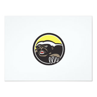 Honey Badger Claws Side Circle Retro 17 Cm X 22 Cm Invitation Card