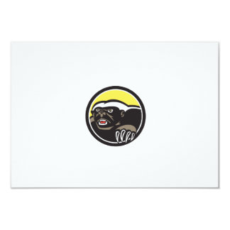 Honey Badger Claws Side Circle Retro 9 Cm X 13 Cm Invitation Card
