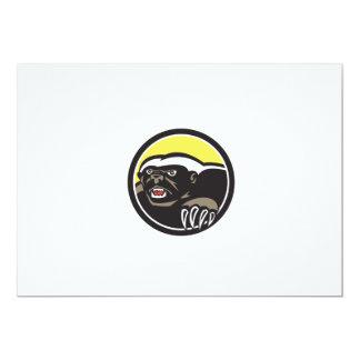 Honey Badger Claws Side Circle Retro 13 Cm X 18 Cm Invitation Card