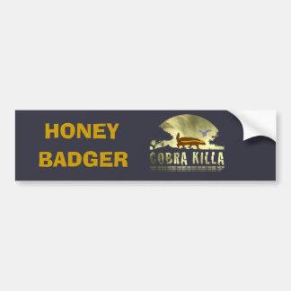 Honey Badger Cobra Killa Car Bumper Sticker