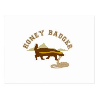 honey badger cobra killa postcard
