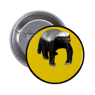 Honey Badger (Create Your Own Saying Below Him) Button