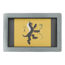 Honey Badger Crest Rectangular Belt Buckle