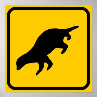 Honey Badger Crossing Sign