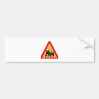 Honey Badger Crossing Sign Bumper Sticker