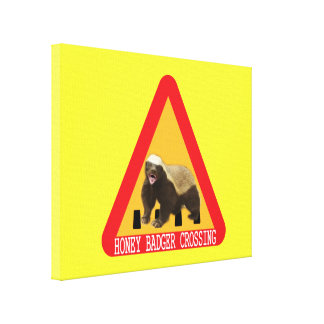 Honey Badger Crossing Sign - Yellow Background