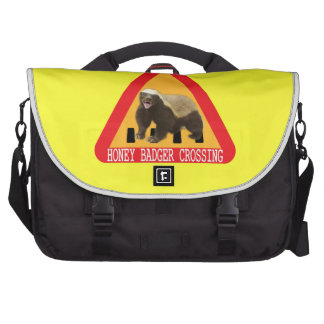 Honey Badger Crossing Sign - Yellow Background Commuter Bags