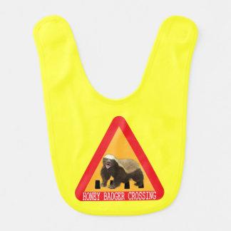 Honey Badger Crossing Sign - Yellow Background Bibs