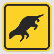 Honey Badger Crossing Sticker