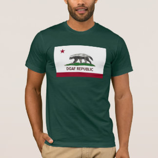 Honey Badger DGAF California Republic T-Shirt