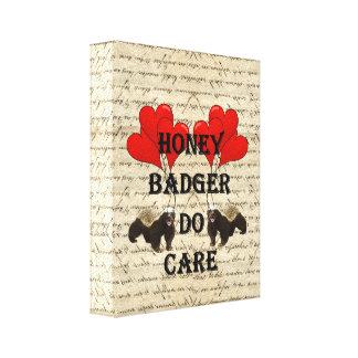Honey badger do care canvas print